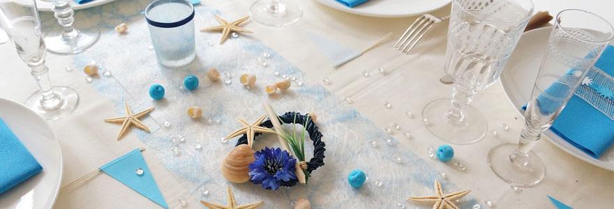 La décoration des tables