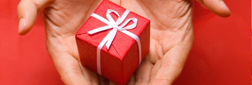 Un cadeau d'invités de mariage